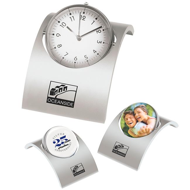 Spinning Desk Clock - Laser Engraved Imprint