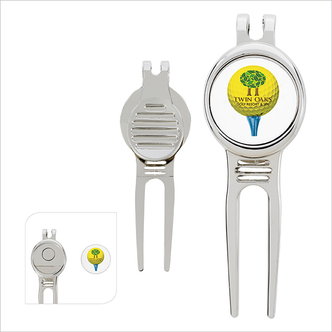 Golfer's Divot Tool with Ball Marker - 1 Colour Imprint