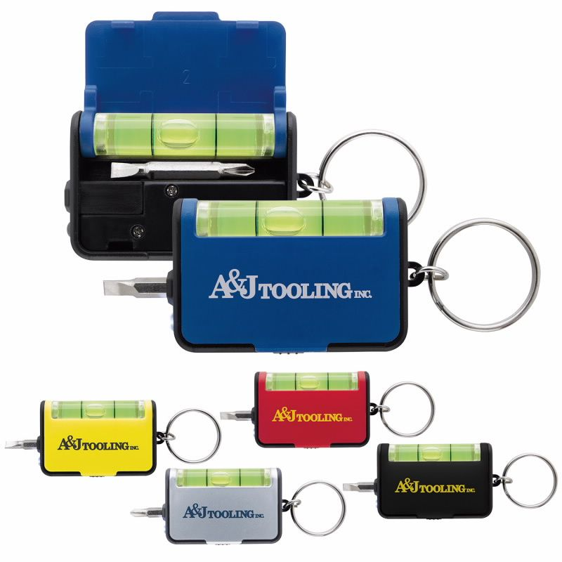 Keychain Tool Set w/Level - 1 Colour Imprint