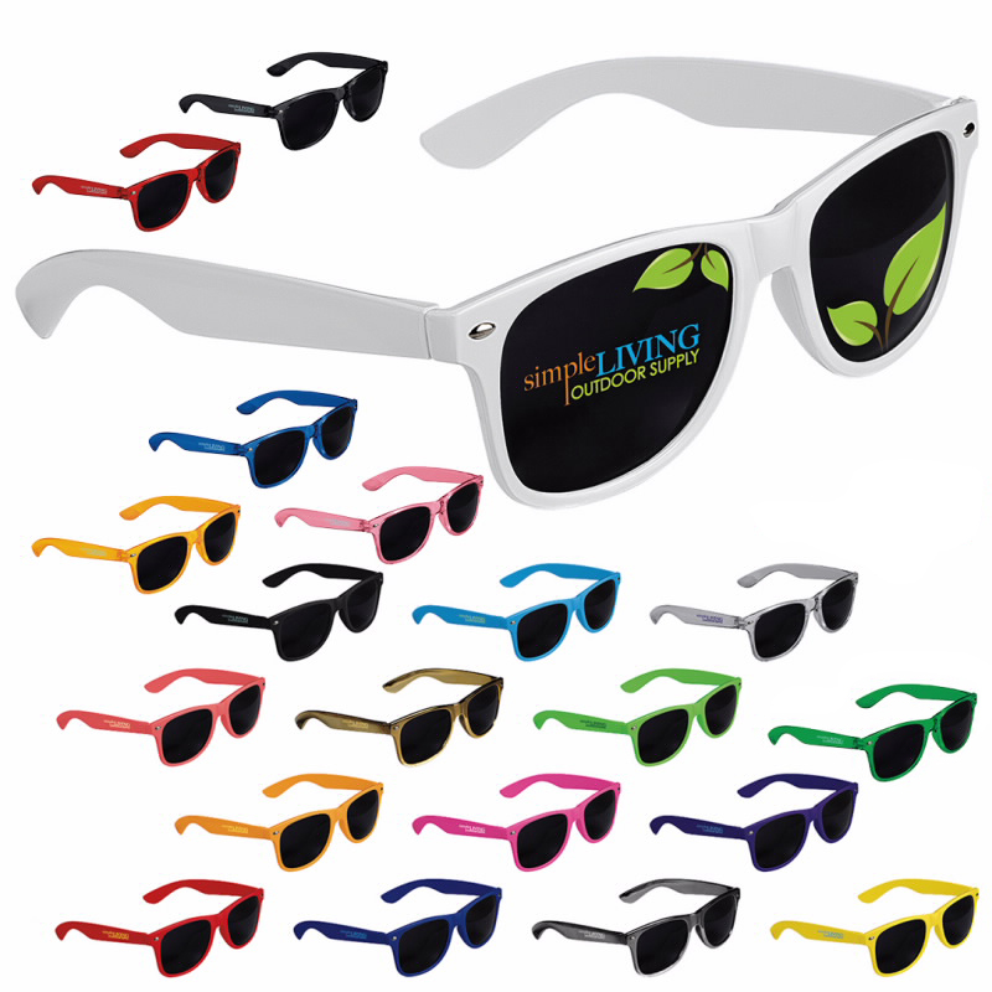 GoodValue Cool Vibes Dark Lens Sunglasses, #26050, 1 Colour Imprint