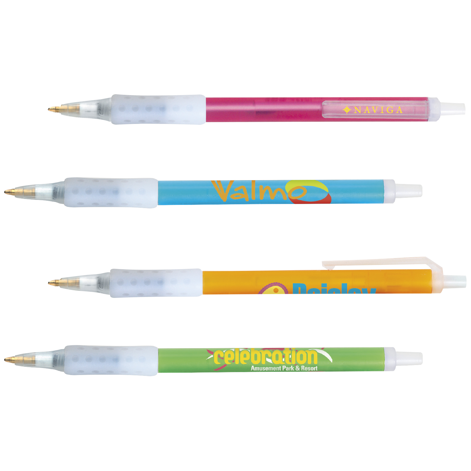 BIC Clic Stic Ice Grip Pen, #CSIG, 1 Colour Imprint