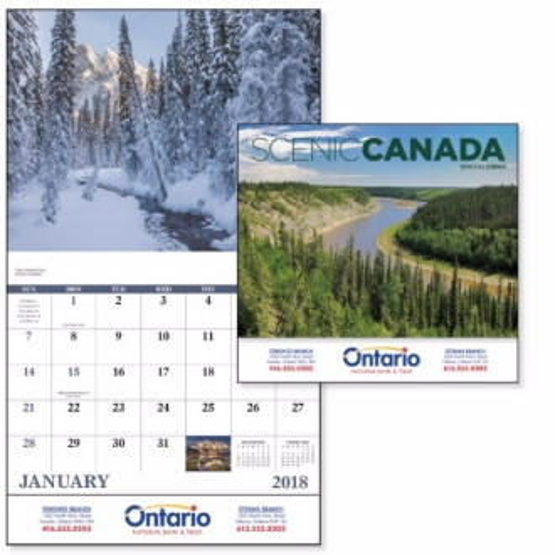 GoodValue Scenic Canada Calendar (Stapled), #7302, 1 Colour Imprint