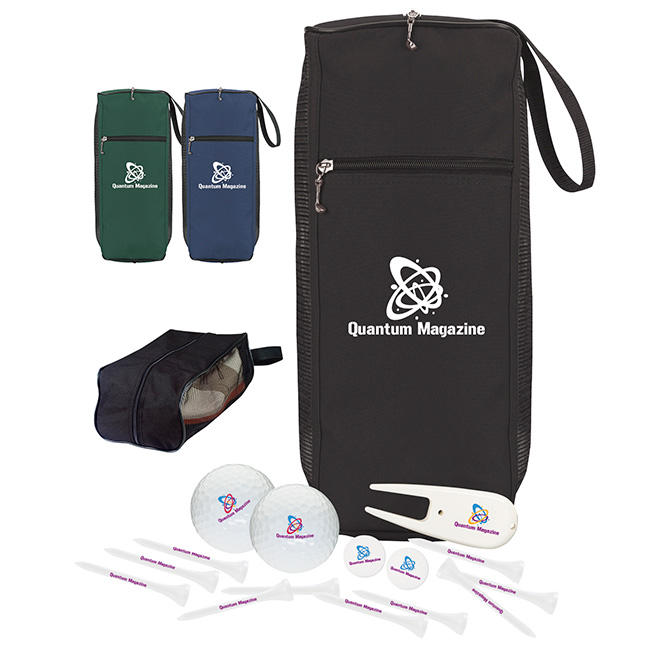 Amateur's Shoe Bag Golf Kit w/ Titleist DT TruSoft Golf Balls - 1 Colour Imprint