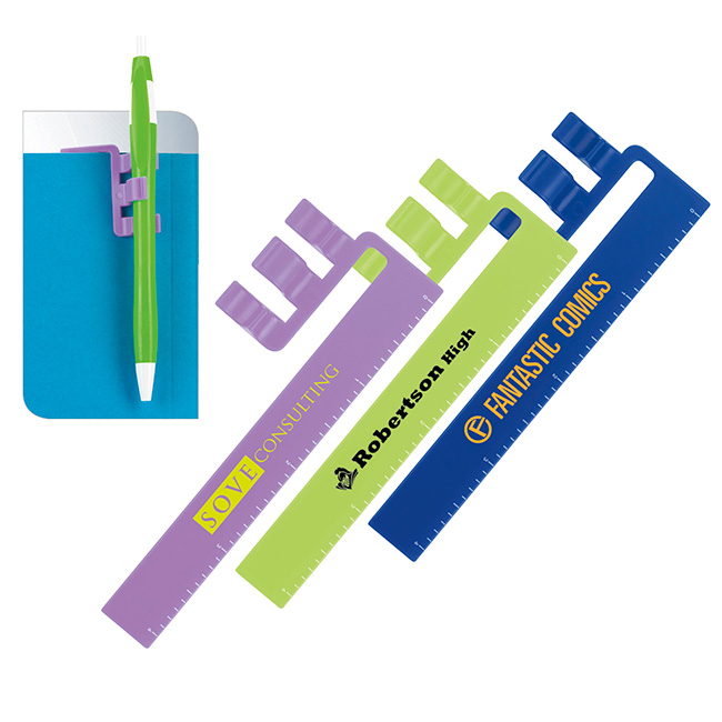 Triple Threat (Ruler, Bookmark & Pen Holder) - 1 Colour Imprint