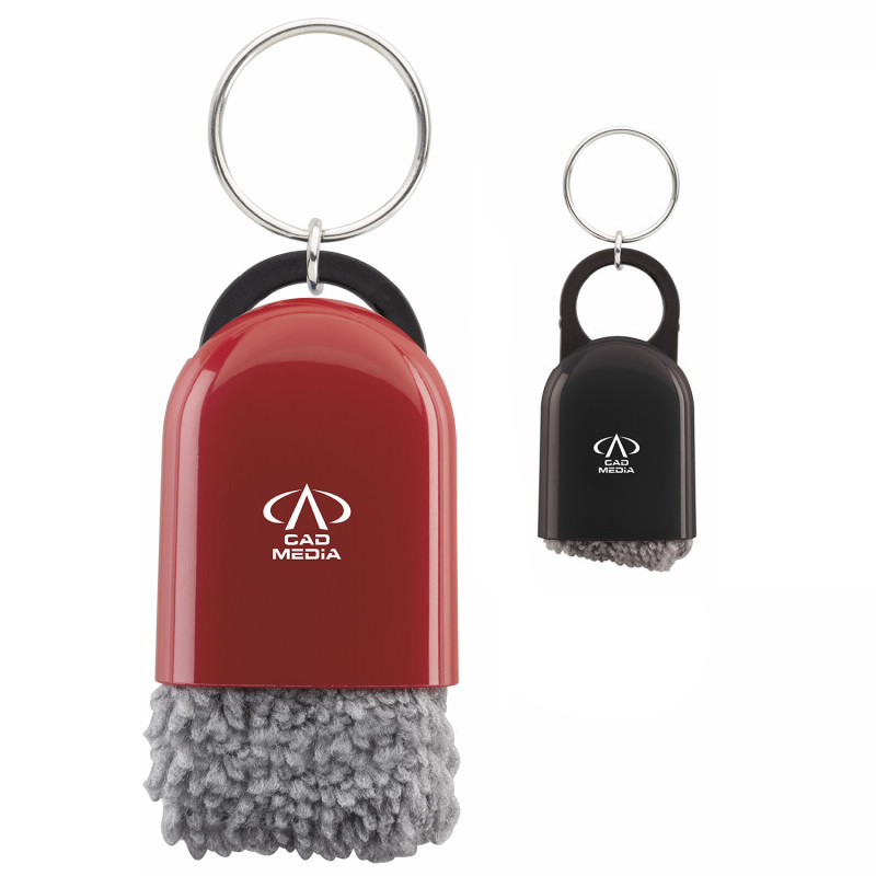 Cool Tech Cleaner W/ Key Ring - 1 Colour Imprint