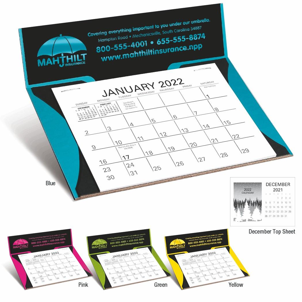 Triumph Curved Memo Desk Calendar, #4306, 1 Colour Imprint