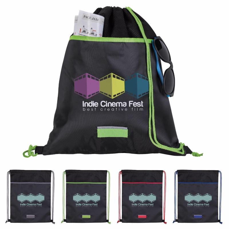 GoodValue Outer Space Drawstring Backpack, #15968, 1 Colour Imprint