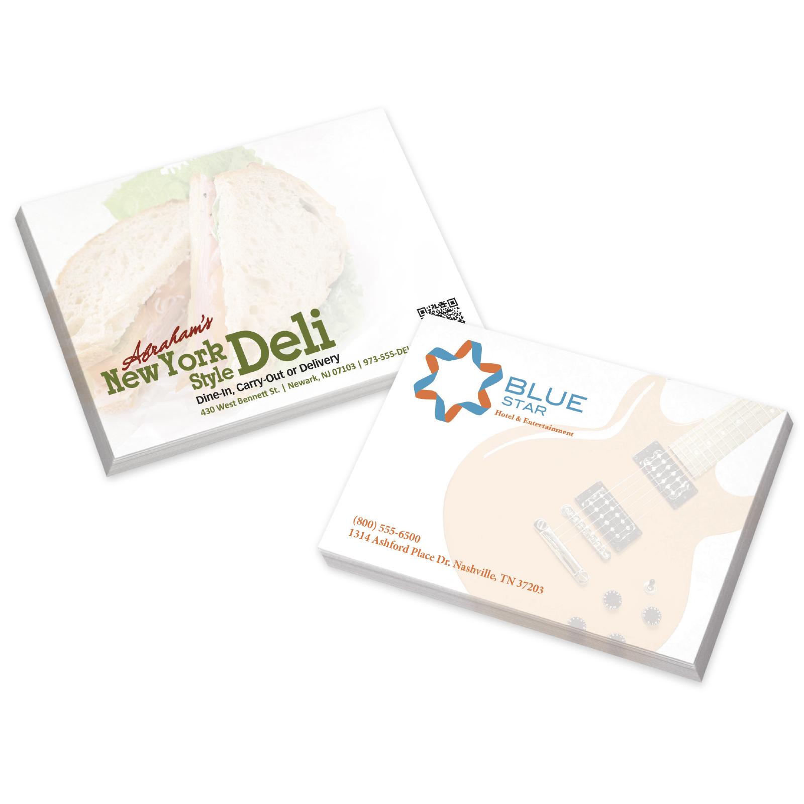 "BIC Adhesive 25 Sheet Notepad (4""x3"") - Full Colour Imprint"