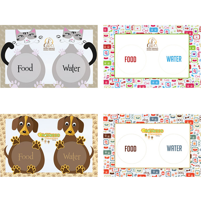Pet Feeding Mat - Full Colour Imprint, #26017