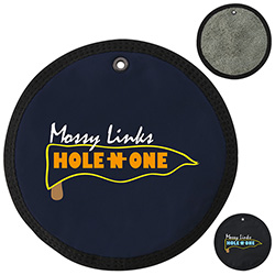 Golf Round Terry Cloth - 1 Colour Imprint
