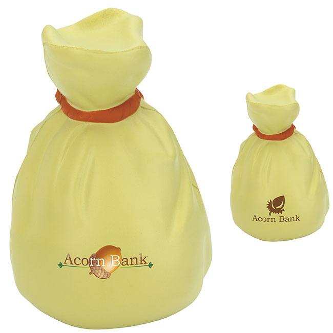 Money Bag Stress Ball - 1 Colour Imprint
