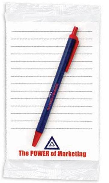 BIC Clic Stic Pen w/ 25 Sheet Notepad (4