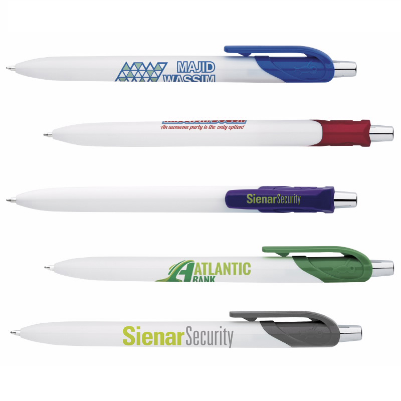 BIC White Honor Pen, #HRW, 1 Colour Imprint