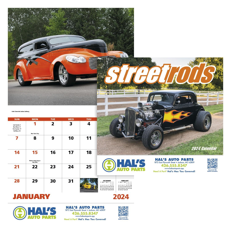 GoodValue Street Rods Calendar (Stapled), #7283, 1 Colour Imprint