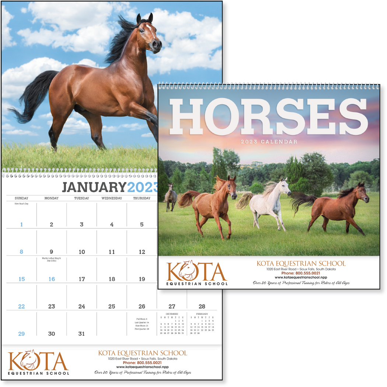 Triumph Horses Appointment Calendar, #1052, 1 Colour Imprint