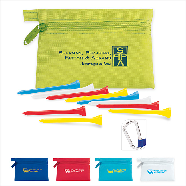 Links Pouch w/ Tees Value Pak - 1 Colour Imprint