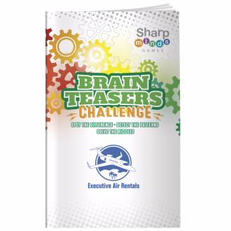 Sharper Minds Brain Teasers Challenge Puzzle Book - 1 Colour Imprint, #40939