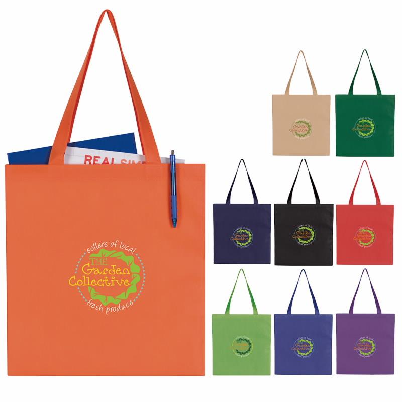 GoodValue Non-Woven Budget Tote Bag, #15918, 1 Colour Imprint