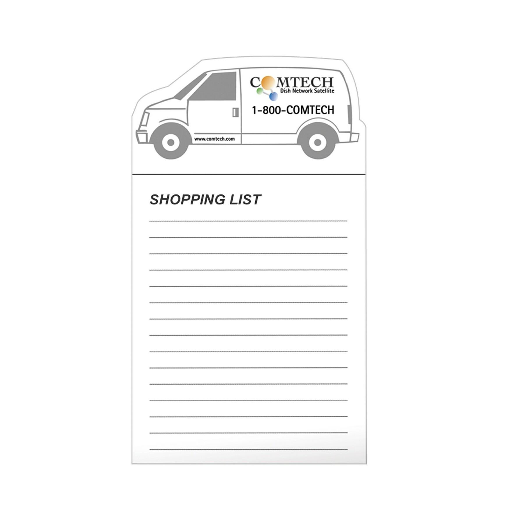 30 Mil Stock Shape Magnet & 50 Sheet Non Adhesive Notepad - Full Colour Imprint