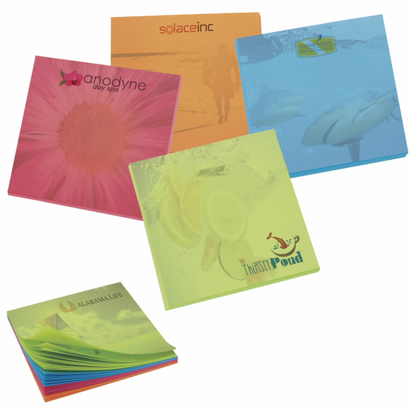 BIC 50 Sheet Bright Colored Paper Adhesive Notepad (3