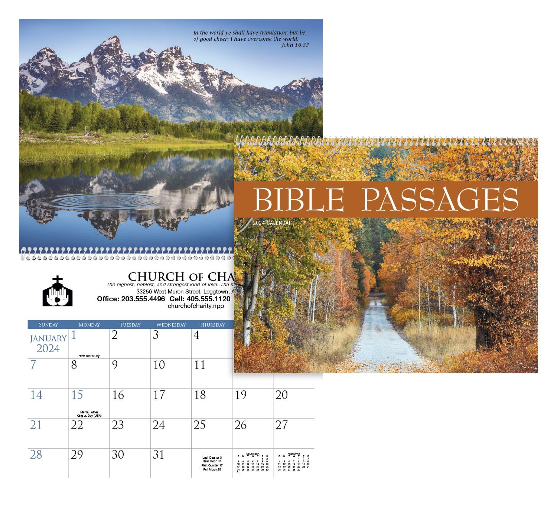 Triumph Bible Passages Executive Calendar, #2503, 1 Colour Imprint