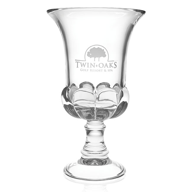Jaffa Signature Series Medici Clear Crystal Trophy - Deep Etch Imprint
