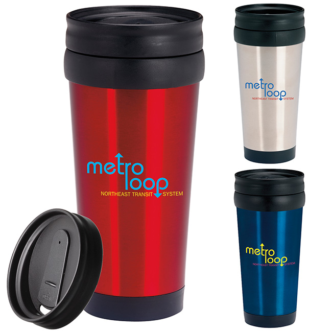 16 Oz. Stainless Deal Tumbler - 1 Colour Imprint