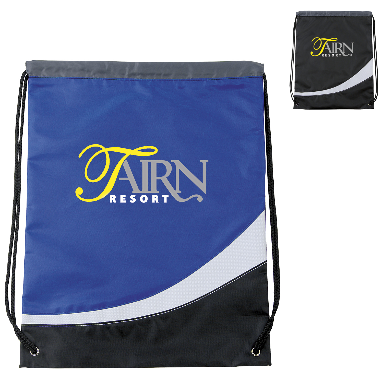 Atchison Curved Cinchpack Backpack - 1 Colour Imprint