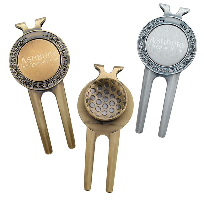 Honor Magnetic Divot Repair Tool w/ Ball Marker - Laser Engraved Imprint