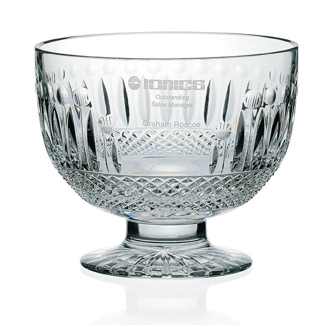 Jaffa Signature Series Victoria Pedestal Bowl - Deep Etch Imprint, #35037