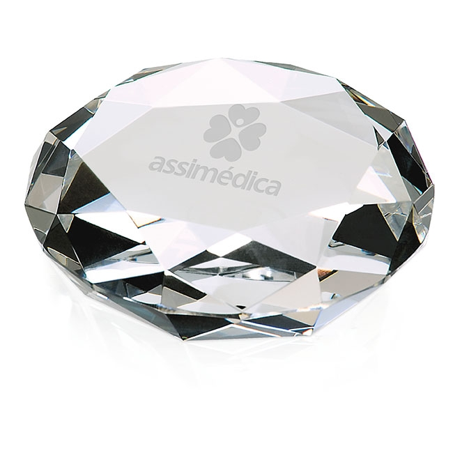 Jaffa Faceted Paperweight Award, #35267, Deep Etched