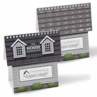 NUVO by Triumph House Shape Desk Calendar, #4222, 1 Colour Imprint