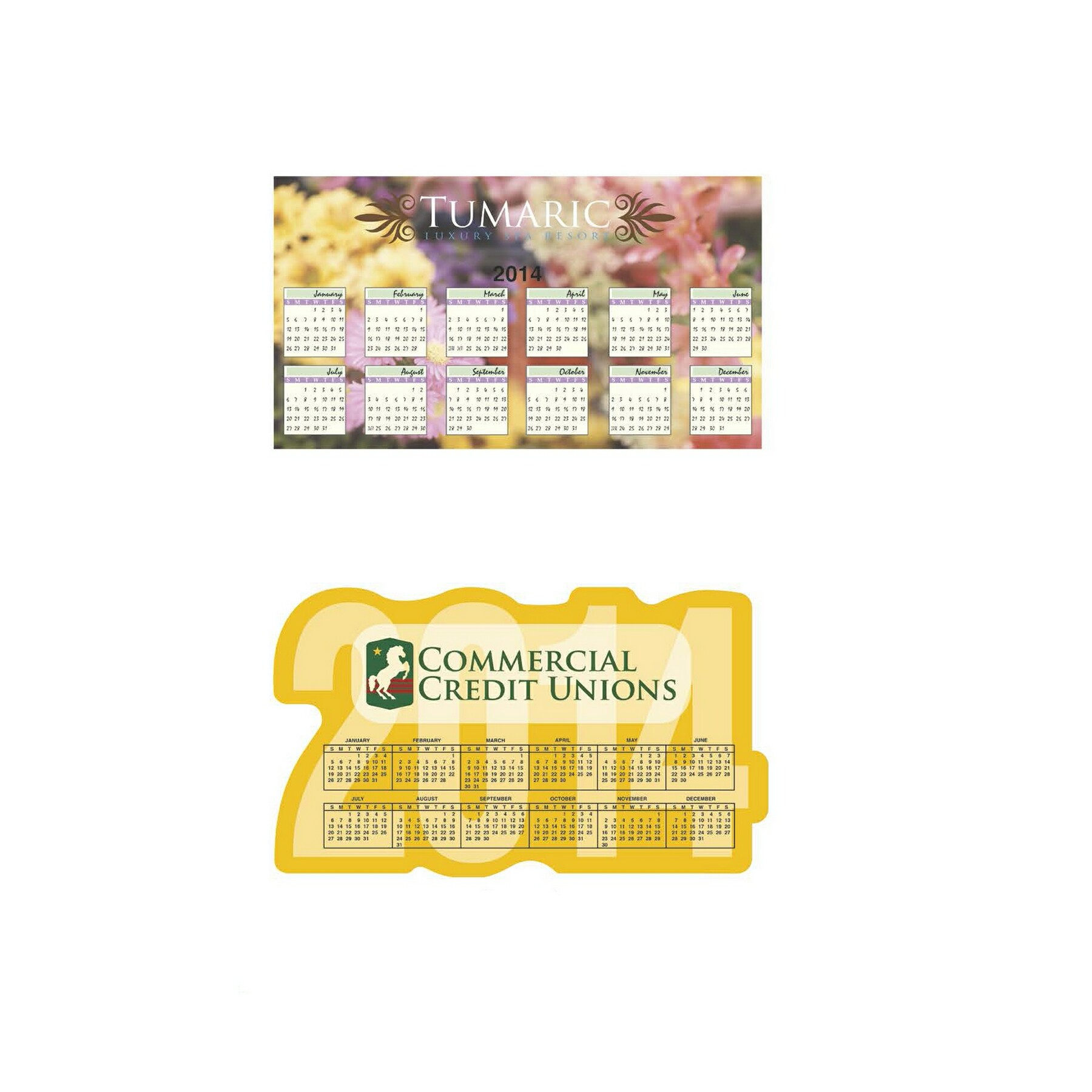 BIC Calendar & Schedule Magnet (30 Mil) - Year & Large, #MGCLXL30, Full Colour Imprint