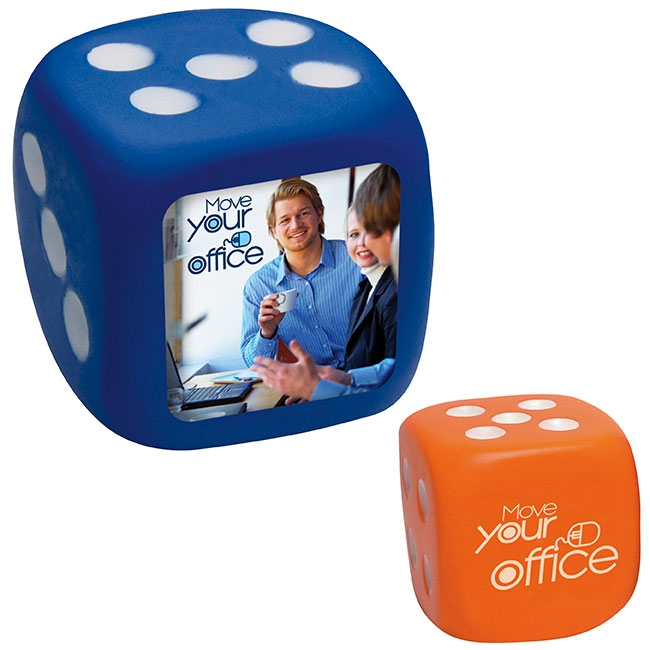 Anti Stress Dice - 1 Colour Imprint