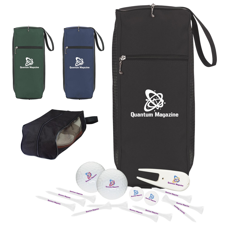 Amateur's Shoe Bag Golf Kit w/Callaway Warbird 2.0 Golf Balls, #62170, 1 Colour Imprint