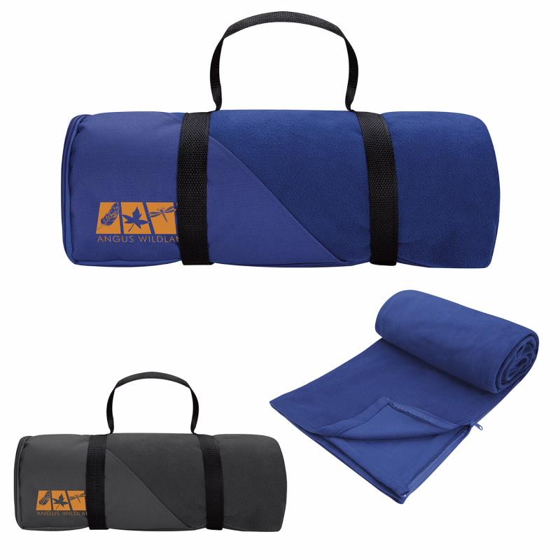 Good Value Blanket w/Sleeping Bag, #26089, 1 Colour Imprint
