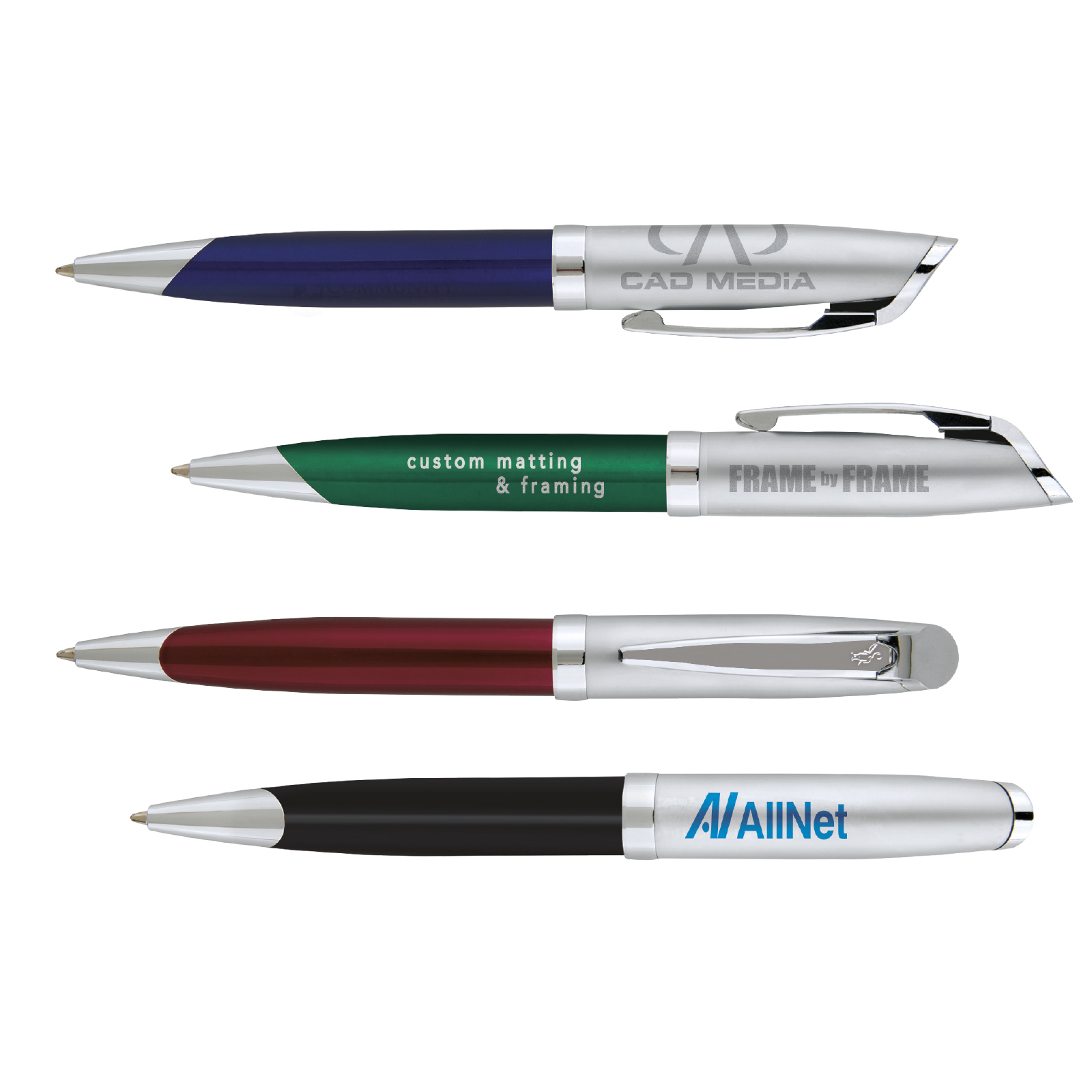 BIC Select Tri-Tone Twist Metal Pen, #Y215, 1 Colour Imprint