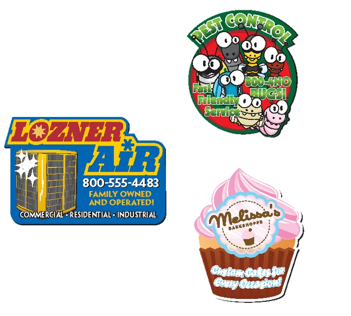 BIC Custom Shape Magnet 12.01 to 14 Square Inches - 20 Mil, #MGCS20-12, Full Colour Imprint