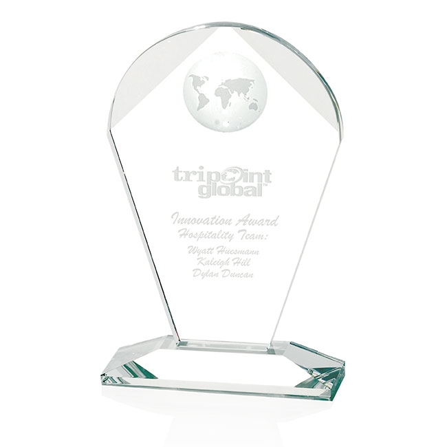 Jaffa Geodesic Medium Award - Deep Etch Imprint, #35072