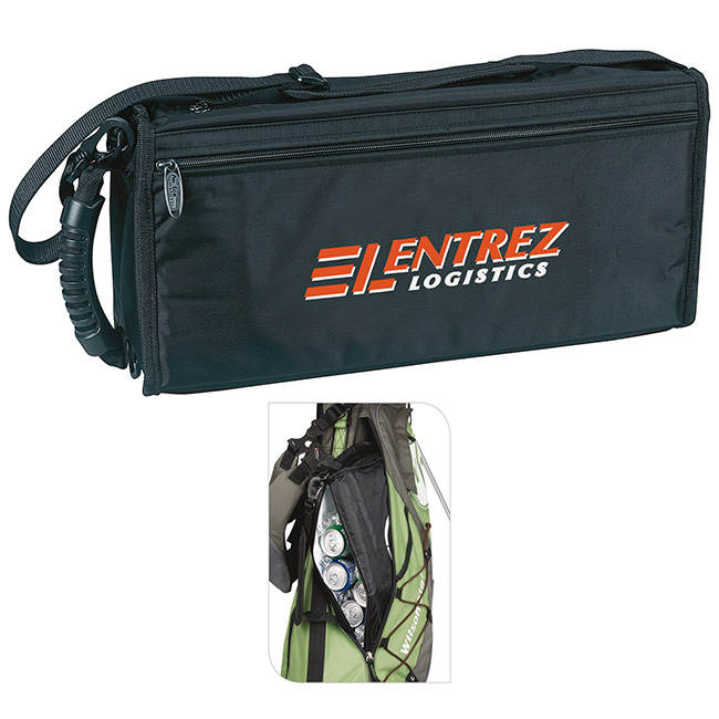 Golf Bag Can Cooler w/ Adjustable Strap - 1 Colour Imprint