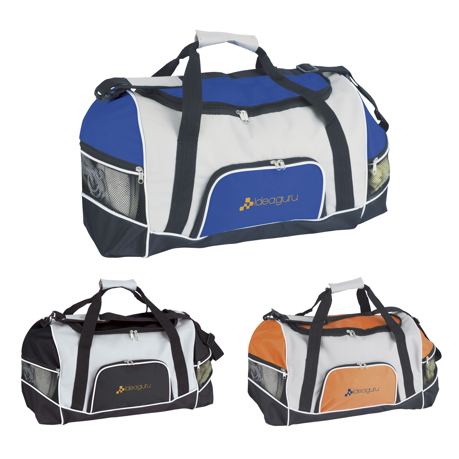 Tri-Pocket Sport Duffel Bag - 1 Colour Imprint