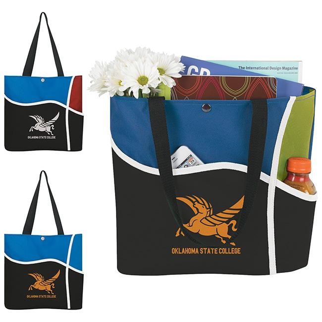 Atchison Curl Tote Bag - 1 Colour Imprint