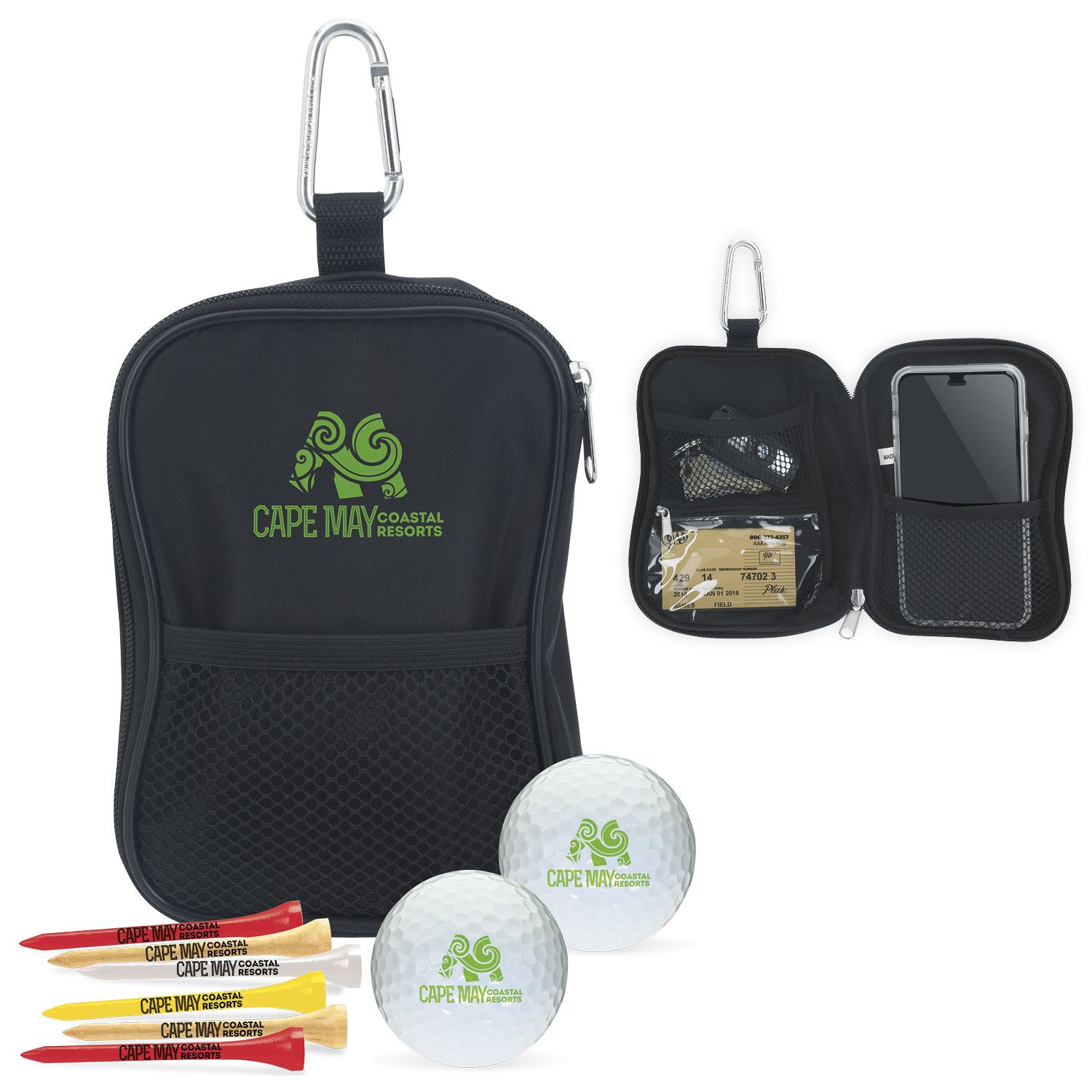 Valuables Pouch Golf Kit w/Wilson Ultra 500 Golf Balls, #62311, 1 Colour Imprint