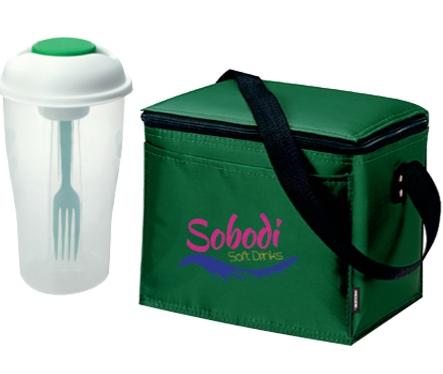 Koozie Six Pack Kooler w/ Salad Cup Combo - 1 Colour Imprint