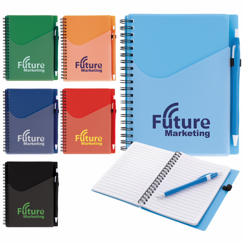 Surf Notebook w/Dart Pen, #32048, 1 Colour Imprint
