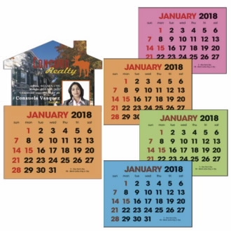 Triumph Full-Color Stick Up Colored Paper 2-Color Grid Calendar, #5332, Full Colour Imprint
