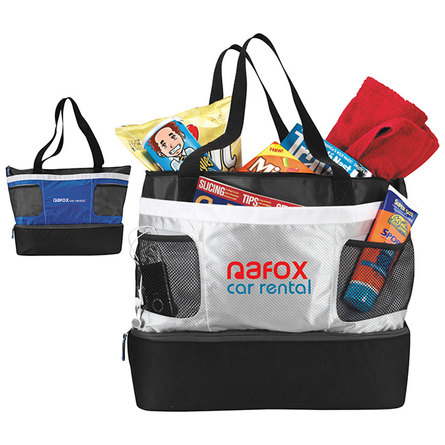 Atchison Double Decker Cooler Tote - 1 Colour Imprint
