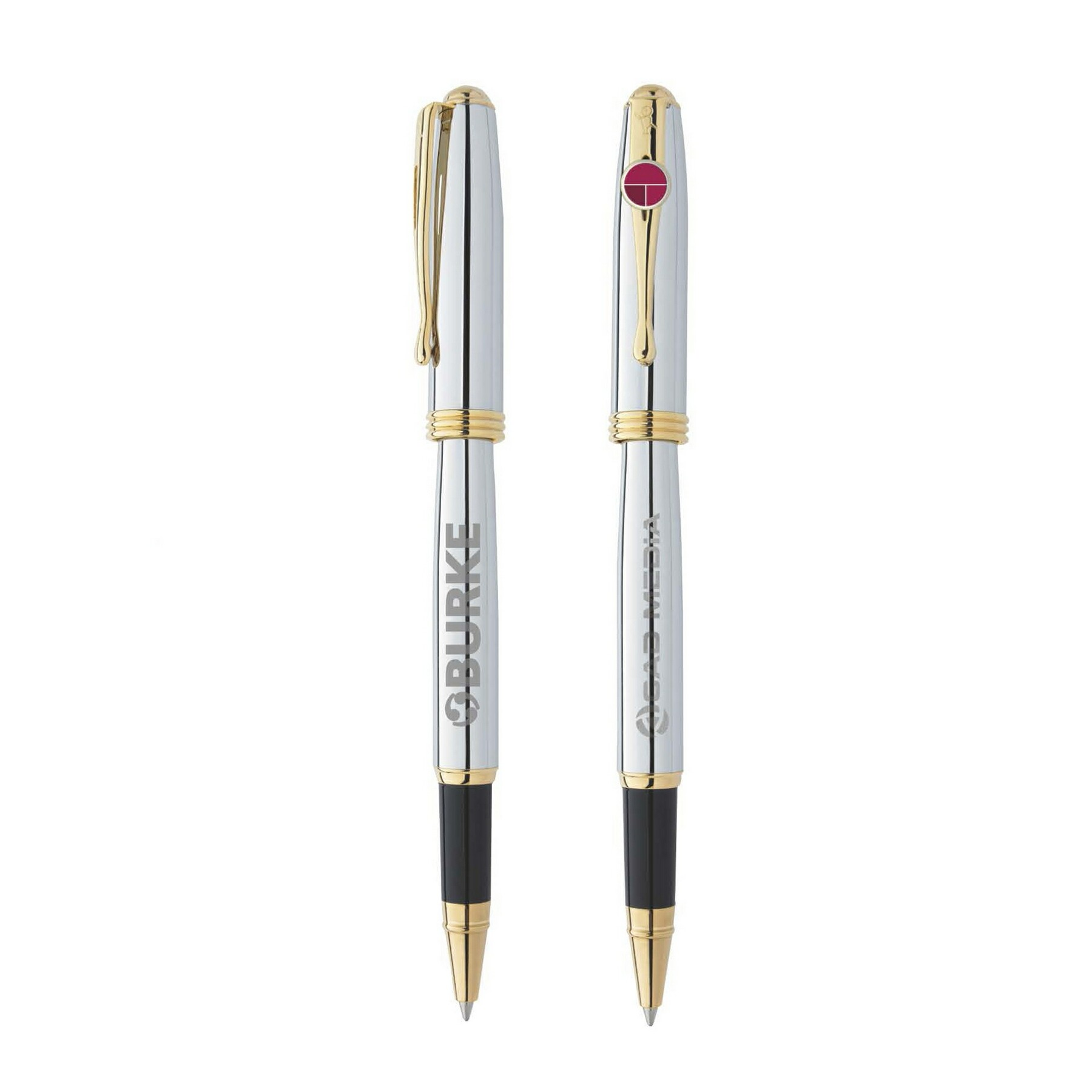 BIC Select Worthington Chrome Roller Pen, #WCCR, Laser Engraved