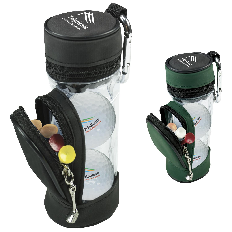 Mini Golf Bag w/3 Wilson Ultra 500 Golf Balls & 5 Tees, #60960, 1 Colour Imprint