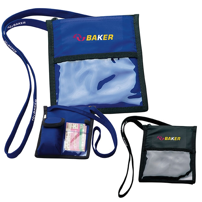 Neck Wallet w/ Lanyard - 1 Colour Imprint